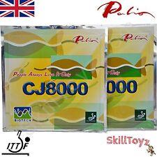 2 x Palio CJ8000 Biotech Table Tennis Rubbers & sponge 39-41  UK SELLER UK STOCK