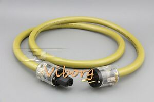 1-5M-High-Quality-Silver-Plated-US-Mains-Power-Cord-Cable-HIFI-AC-Power-Cable