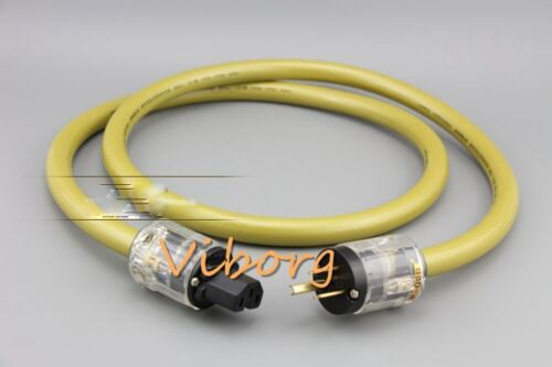 1M High Quality Silver Plated US Mains Power Cord Cable HIFI AC Power Cable