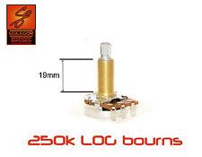 Bourns 250k LOG 19mm long shaft pot resistor for guitar or bass gibson