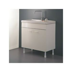 Mobile Sottolavello cucina 80x45 Bianco per lavello in ceramica LADY ...