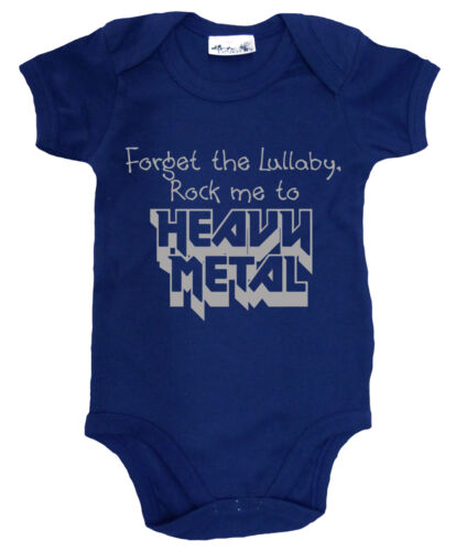 """Rock Me to Heavy Metal/"""" Bodysuit Baby Music Dirty Fingers /""""Forget the Lullaby"""