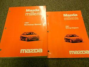 1997 Mazda Millenia Service Repair Shop Manual SET OEM ...