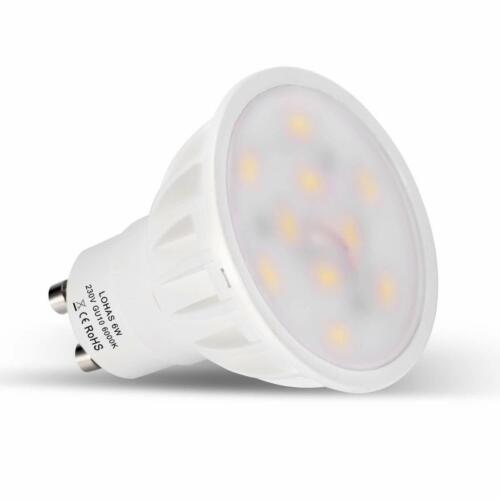 LOHAS Pack of 10x Day White GU10 LED Bulbs Ultra Bright 6W Light Cool Spot