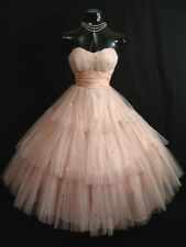 Layered Pink Tulle Evening Dresses Tea Length Party Homecoming Prom Gowns Custom
