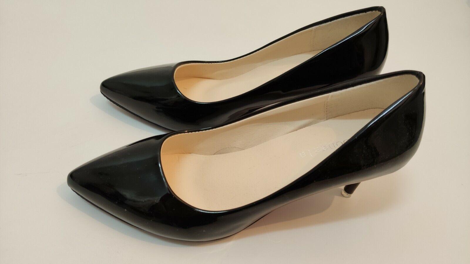 zapatos de mujer salón negros nº 39 nuevos