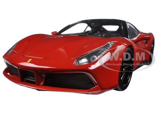 FERRARI 488 GTB RED SIGNATURE SERIES 1 18 DIECAST MODEL CAR BY BBURAGO 16905