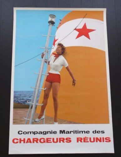 Compagnie Maritime des Chargeurs Reunis marketing//travel poster circa 1950s-60s