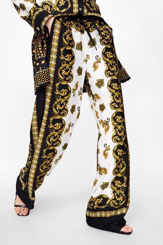 Zara Printed Trousers Size Small BNWT