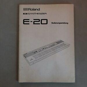 Roland E-20 - Bedienungsanleitung - original vintage Synthesizer Manual