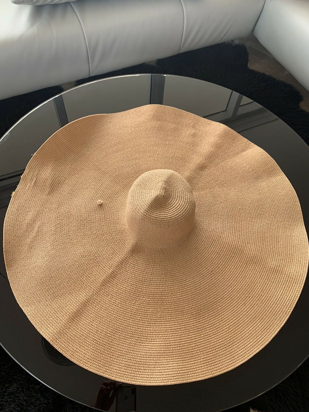 Extra Wide Brim Straw Hat - image 1