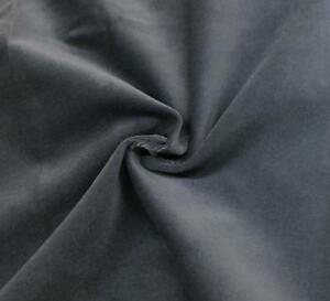 Gray-Cotton-Velvet-Velour-Fabric-Upholstery-Material-Sold-by-The-Yard-54-in-Wide
