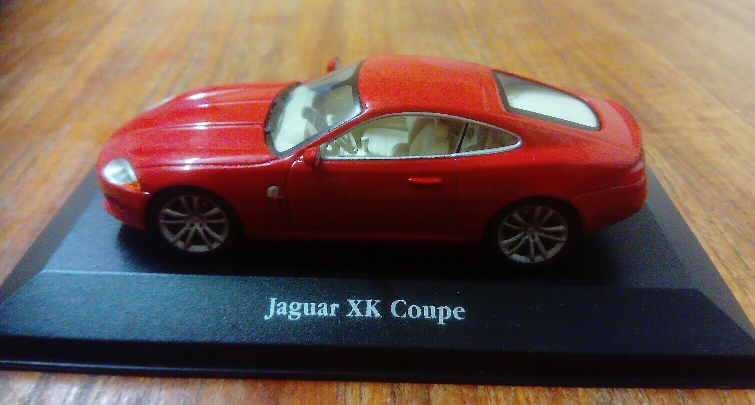 ATLAS EDITIONS JAGUAR XK COUPE RED 1 43 WITH CERTIFICATE OF AUTHENTICITY