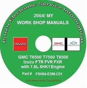 2004 gmc t6500 t7500 t8500 isuzu ftr fvr fxr 7 8l 6hk1 diesel rh ebay com  chevy t8500 gmc t7500