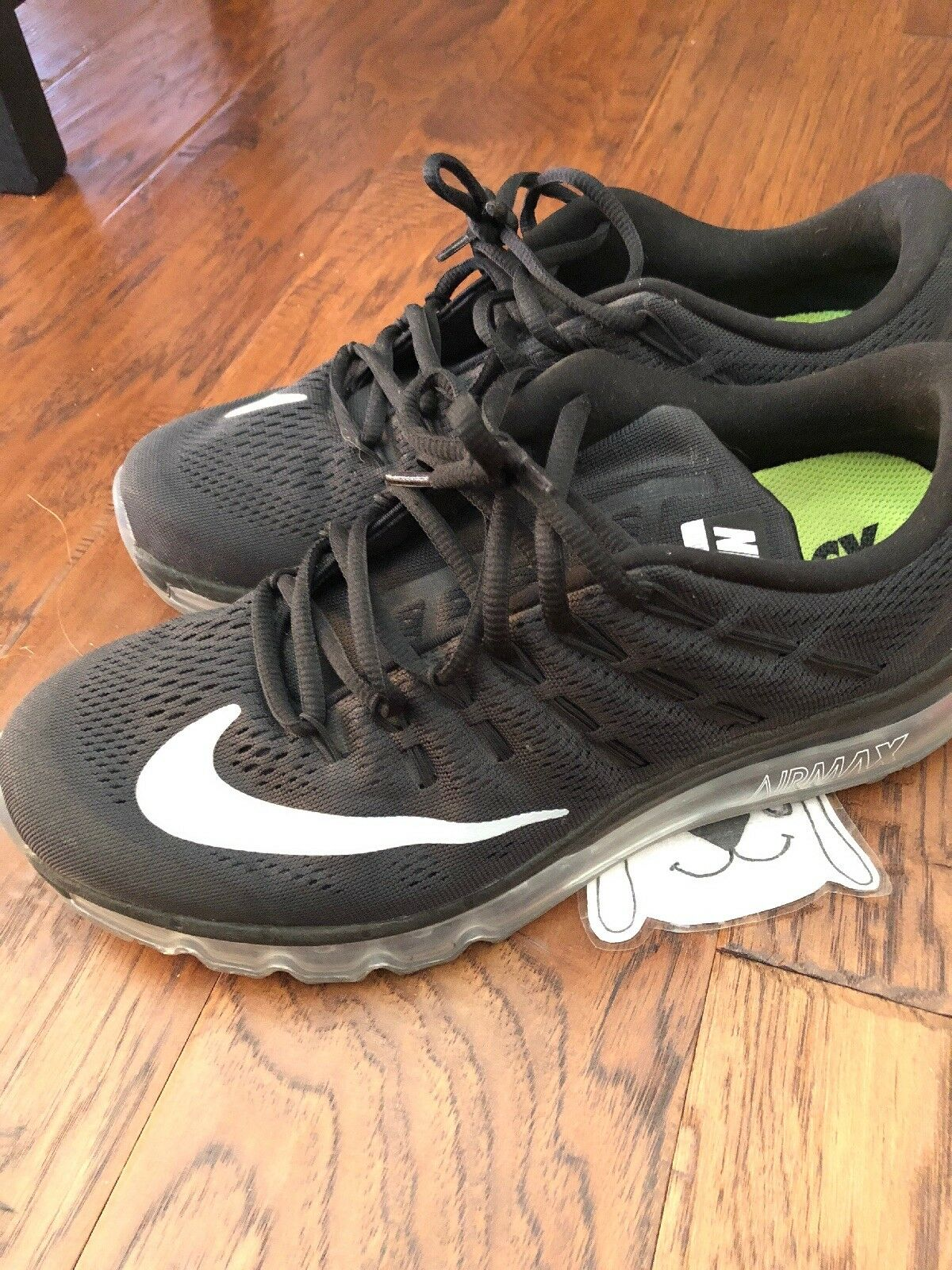 Nike Air Max 2016 Black Anthracite Grey Mens Mens Mens shoes Sz 9 Clear soles VNDS Running b99b43