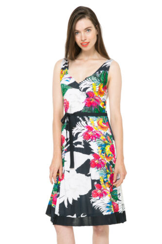 Desigual Hourglass Tropical Floral Hallen Dress S-XXL UK 10-18 RRP�64