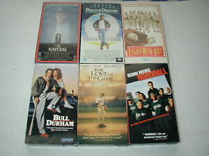BASEBALL-MOVIES-6-PACK-VHS-MOVIE-LOT-RARE-OOP-HTF