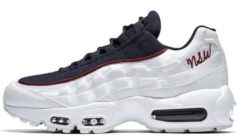 NIKE AIR MAX 95 LX  NSW  WHITE blueE SIZE 8 BRAND NEW FAST SHIPPING (AA1103-100)