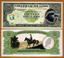 Chatham Islands, $15, 1999, Polymer / Tyvek, UNC