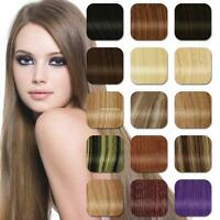 """15""""18""""20""""22""""24""""26""""28""""Clip in Remy Real Human Hair Extensions Straight Any Length"""