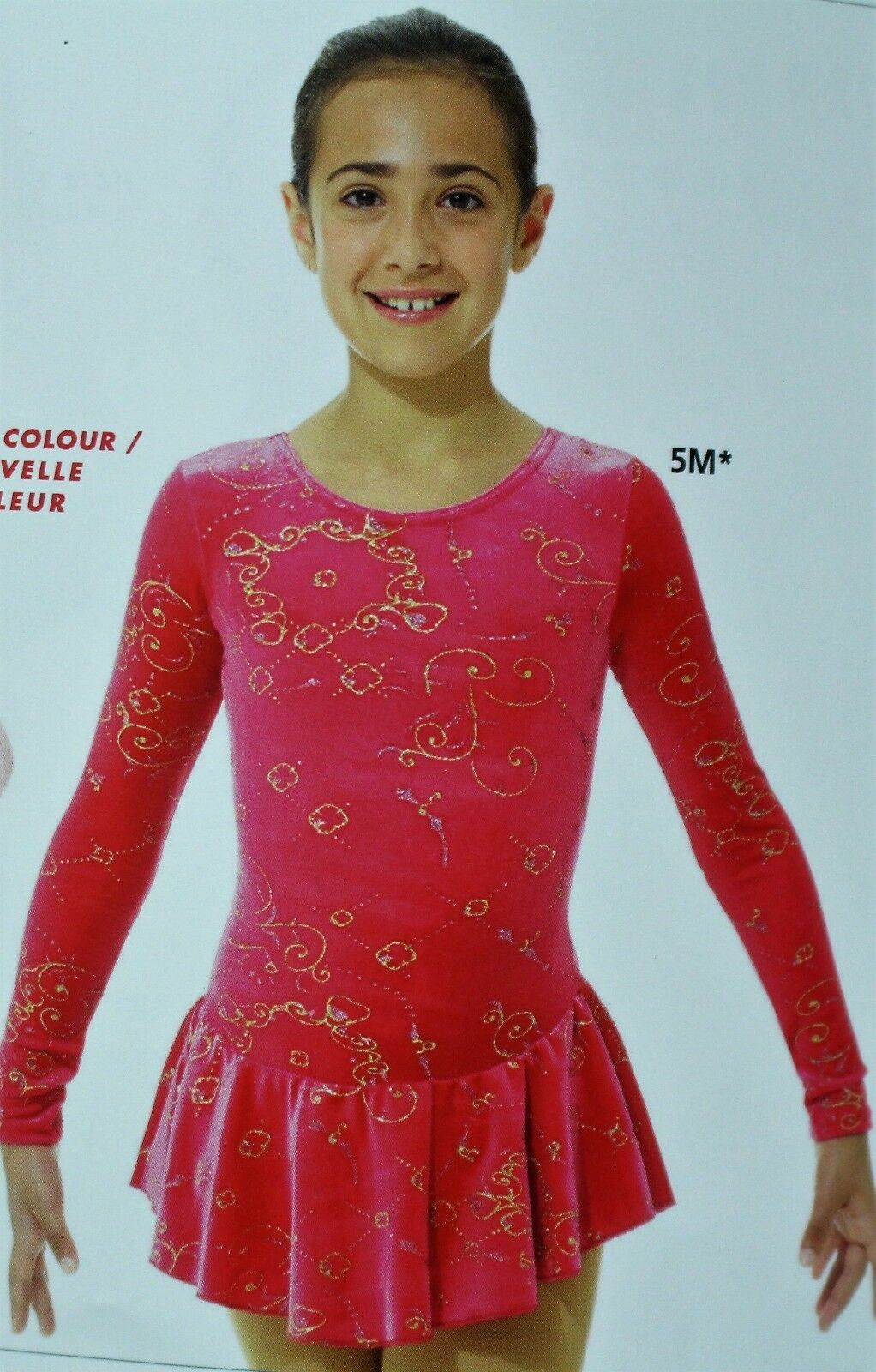 Mondor Model 2723 Girls Skating Dress -  Medieval Red