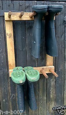 Parete Rack Welly Wellington Stivali 4 Coppia, Completamente Assemblato Da Te-mostra Il Titolo Originale