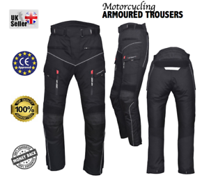 Motorbike-Motorcycle-ATGATT-Orig-039-Trousers-Cordura-Textile-CE-approved-Armour