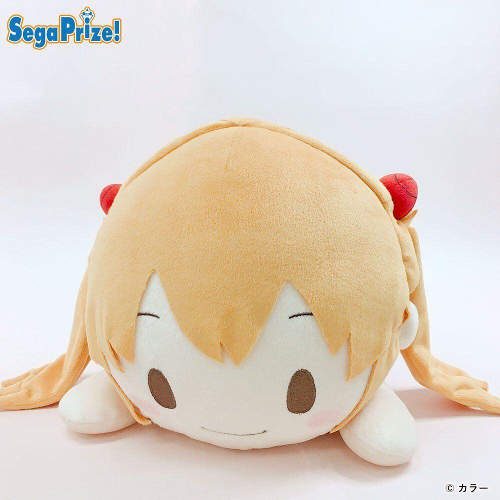 SEGA Evangelion Mega Jumbo Nesoberi stuffed Plush Asuka feat 2018 Free-shipping