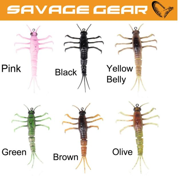 soft baits leurres souples 2,5g Savage Gear TPE Mayfly Nymph 5cm