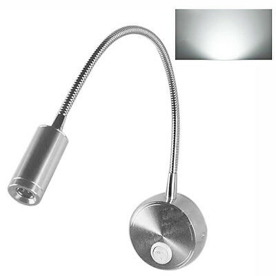 1W/3W LED Flexible Spotlights Hose Mirror Lamp Bedroom Light Lamps Wall Sconce