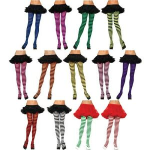 Striped-Tights-Adult-Womens-Nylon-Pantyhose