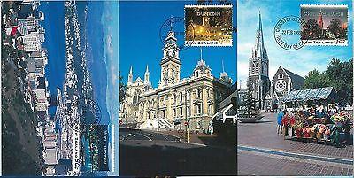 59112 Postal History: Set Of 5 Maximum Card 1995 Architecture New Zealand