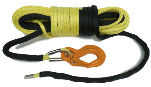 100ft 11mm Synthetic Winch Rope /& Hook 11800KG  MBL UPMWPE  self recovery 4x4.