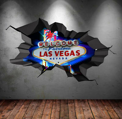 Las Vegas LA USA Nevada Casino Wandtattoo Wandsticker Wandaufkleber C0434