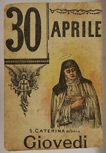 Santo Del Giorno Calendario.Dettagli Su Foglio Di Calendario Santo Del Giorno S Caterina Da Siena 30 Aprile 900 Sa456