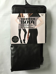 BNIP-Voodoo-Brand-Hot-Black-Sz-Large-Leatherette-Footless-Long-Pants-RRP-45