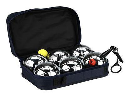 Boccia Set mit Messschnur + Tasche 6 Kugeln Petanque Metall