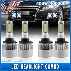 Details about 9005 9006 Combo LED Headlight Bulbs for Toyota Corolla  2001-2013 High & Low Beam