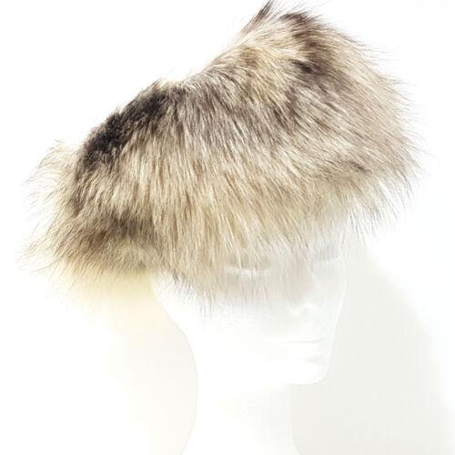 3 di 5 Cappello Pelliccia VOLPE Pelo Lungo TGL 54 bianco panna e castano  colbacco G157 02186673a19a