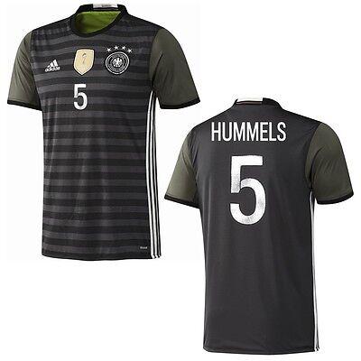 adidas DFB 4 Sterne Away Deutschland Auswärtstrikot grau mit Beschriftung EM2016
