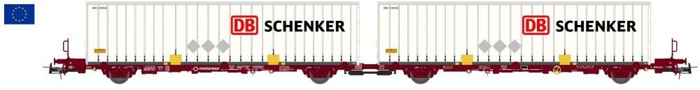 Sudexpress 55017 h0 CARRO CONTAINER tipo laagrss Transfesa Schenker dB DC