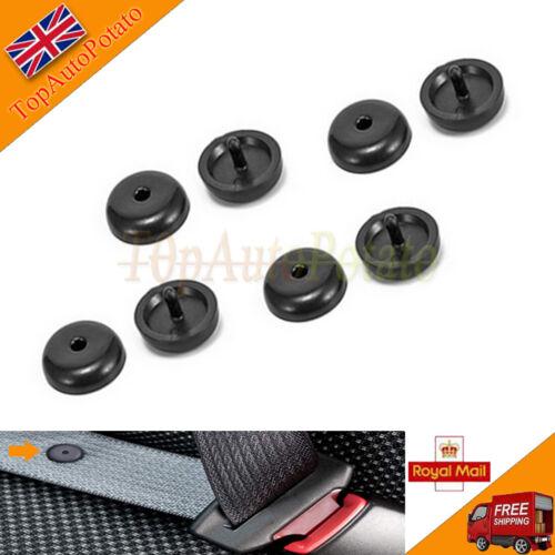 4 Set Universal Car Seat Belt Buckle Holder Clip Studs Retainer Stopper Rest Pin