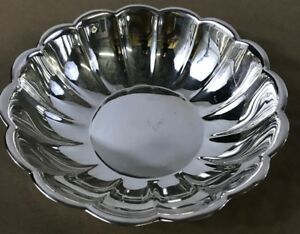Reed and Barton 15 Scalloped Silver Bowl 15 Inch Silver Plated Serving Dish