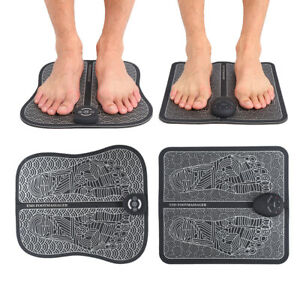 EMS Electric Physiotherapy Foot Massage Mat Vibration Acupoints Relieve Massager