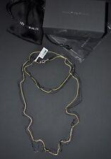 "David Yurman Four-Row Black & Gold 36"" Long Chain Necklace Silver Gold - $2,900"