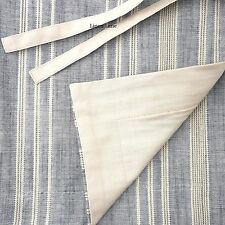 CREMIEUX QUEEN Duvet Cover Set 3pc Chambray Blue Khaki Tan COTTON Stripe Nathan