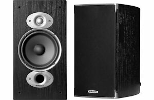 Polk Audio RTIA3 Black Pr 2 Way Bookshelf Speakers
