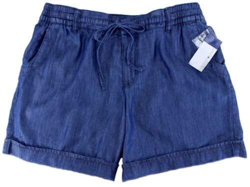 BANDOLINO Donna Casual Pantaloncini Phoenix lavaggio blu scuro vita elasticizzata UK 8-16