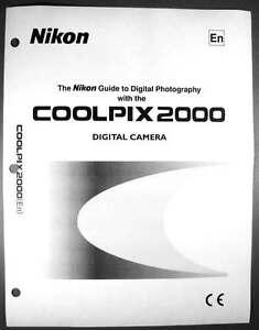 nikon coolpix 2000 digital camera user guide instruction manual ebay rh ebay com Nikon User Manual Nikon Coolpix L30 Manual