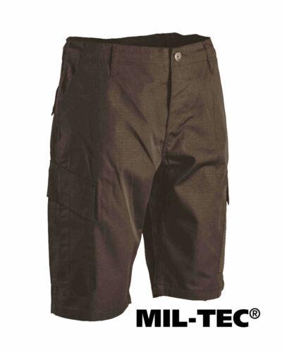 MIL-TEC Bermuda USA ACU R//S Nero Shorts Pantaloni Corti
